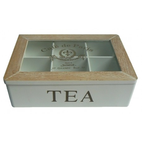 Skrzynka Pojemnik Pudełko Drewniane Na Herbatę