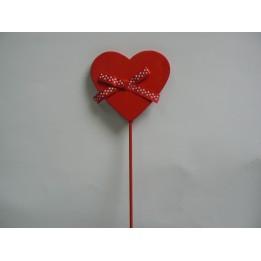 Walentynkowe czerwone serduszko do wbijania