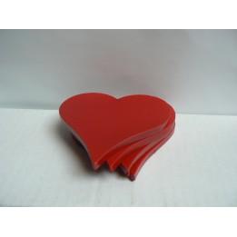 Walentynkowe serca z zawieszką (4 szt.)