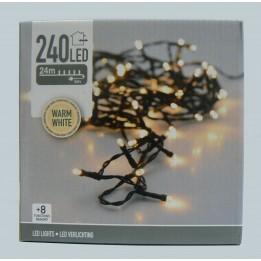 Oświetlenie choinkowe LED 240 biały ciepły z programatorem