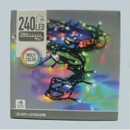 Oświetlenie choinkowe LED 240 multikolor z programatorem