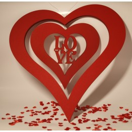 Walentynkowe dwa serca z napisem LOVE