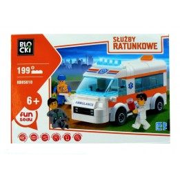 Klocki Blocki Służby Ratunkowe Ambulans KB85010