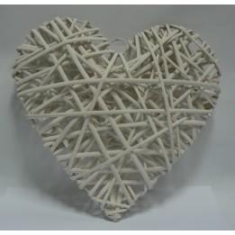 Serce Wiklinowe Białe 25 cm