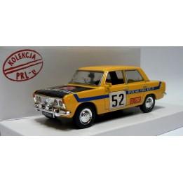 Kolekcja PRL Model FIAT 125p Rally skala 1:43 żółty