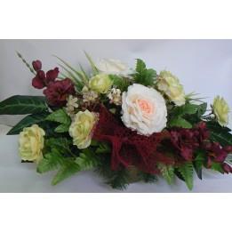 Kompozycja kwiatowa róża - różne wersje kolorystyczne