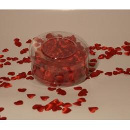 Małe serduszka z materiału - czerwone (1)