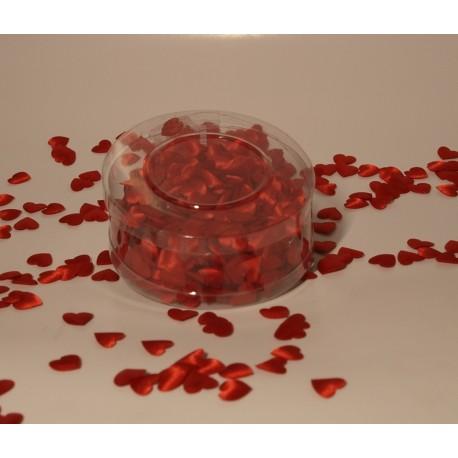 Małe serduszka z materiału - czerwone