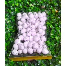 Jajeczka styropianowe nakrapiane - białe