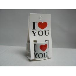 Walentynkowy mini kubeczek I Love You