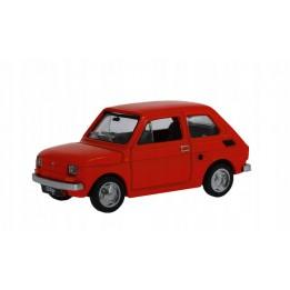 Kolekcja PRL Model FIAT 126p skala 1:43 czerwony