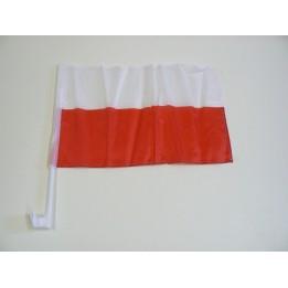 FLAGA NA SAMOCHÓD BIAŁO-CZERWONI