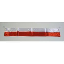 FLAGA NA SZYBĘ SAMOCHODU BIAŁO-CZERWONI